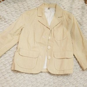 Old Navy Tan Striped Blazer